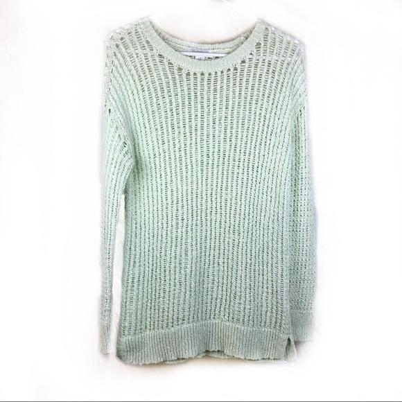 a07534b39fc538 Motherhood Maternity Tops | Mint Green Loose Knit Sweater | Poshmark